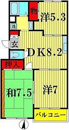 第7泉マンション[110号室]の間取り