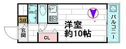 スカイハイツピオラ[3階]の間取り
