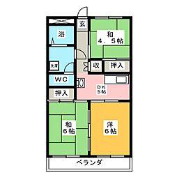 アオヤギハイツ[2階]の間取り