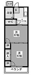 湘南グリーンハイム[3-D号室]の間取り