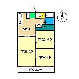 アビタシオン長野[3階]の間取り