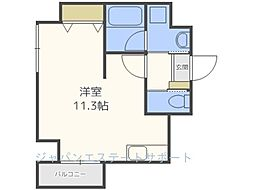AXIS平尾1番館[2階]の間取り