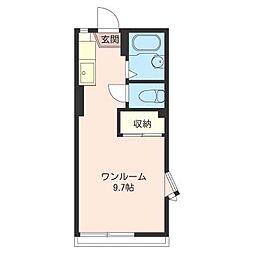 カトレア B[1階]の間取り