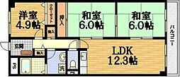 セブンマンション[6階]の間取り