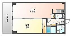 ANNEX住乃江[6階]の間取り