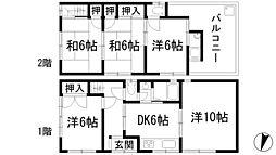 [一戸建] 兵庫県伊丹市北野5丁目 の賃貸【/】の間取り