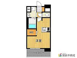 福岡市地下鉄空港線 中洲川端駅 徒歩14分の賃貸マンション 7階ワンルームの間取り