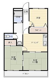 アサヤマンション[205号室]の間取り