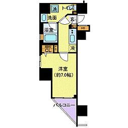 フェルクルール上野駅前(フェルクルールウエノエキマエ)[4階]の間取り