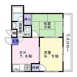 オムズコート[2階]の間取り