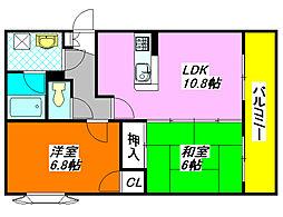 クラージュ・アイ 403号室[4階]の間取り