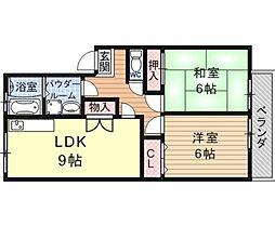 ハイツITO[3B号室号室]の間取り