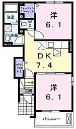 パストラーレ A・B棟[1階]の間取り