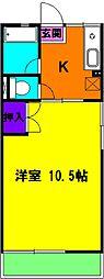 静岡県磐田市城之崎4丁目の賃貸アパートの間取り