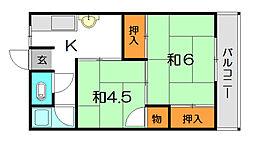 赤松文化[2階]の間取り