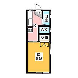 永井コーポ[2階]の間取り