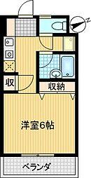 コンフォート鶴牧[4階]の間取り