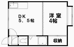 レジデンス本郷8[202号室]の間取り