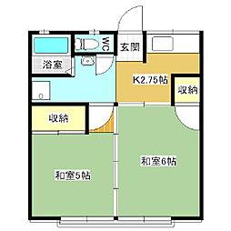 シティハイムARAI[2階]の間取り