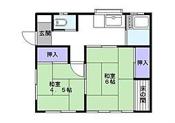 [一戸建] 千葉県松戸市常盤平1丁目 の賃貸【/】の間取り