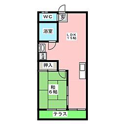ロイヤルレジデンス[1階]の間取り