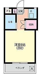 第3マンションオリト[0202号室]の間取り