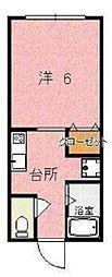 大阪府枚方市牧野下島町の賃貸マンションの間取り