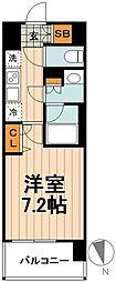 東京メトロ南北線 志茂駅 徒歩9分の賃貸マンション 6階1Kの間取り