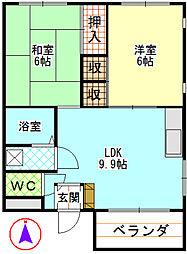 第一青木ビル[302号室]の間取り