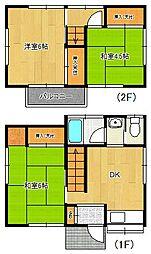 [一戸建] 千葉県船橋市田喜野井6丁目 の賃貸【/】の間取り