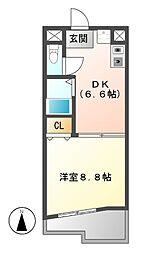 メゾンコロル[7階]の間取り