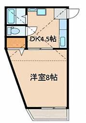 神奈川県横浜市神奈川区東神奈川2丁目の賃貸アパートの間取り