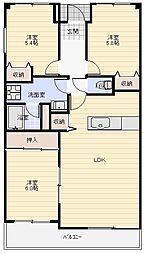 ホワイトハウスうれし野[412号室]の間取り