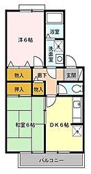東京都練馬区南大泉1丁目の賃貸アパートの間取り