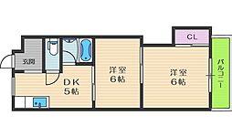 福島清水マンション[4階]の間取り