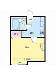 東京都江戸川区西瑞江3の賃貸アパートの間取り