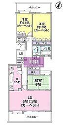 東急ドエル・ステージ21磯子ベイサイドヒルズA棟[2階]の間取り