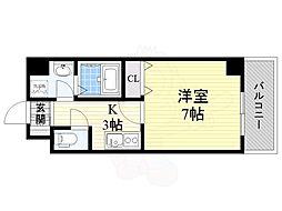 Osaka Metro中央線 九条駅 徒歩6分の賃貸マンション 5階1Kの間取り