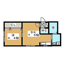 Flats LIDO(フラッツリド)[5階]の間取り