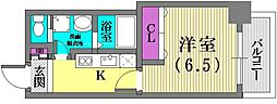 マリス神戸[3階]の間取り