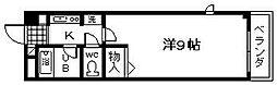 トウシンプリーマ貝塚[304号室]の間取り