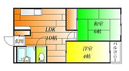 サニーガーデンヒル[5階]の間取り