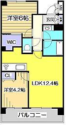 東京都小平市上水本町5丁目の賃貸マンションの間取り