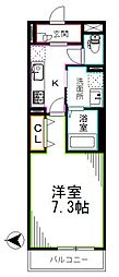 JR総武線 西荻窪駅 徒歩19分の賃貸アパート 2階1Kの間取り