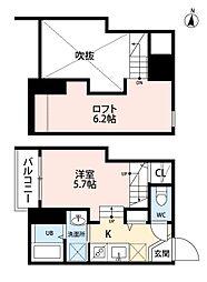 ルミカ 美野島[1階]の間取り