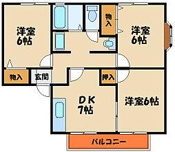 ソーシャルライフガーデン[2階]の間取り
