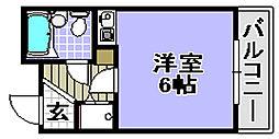 ベルトピア和泉大宮[108号室]の間取り