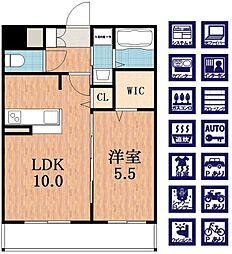 THE TERRACE 天王寺MK[5階]の間取り