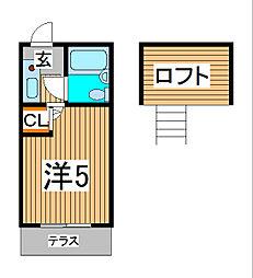 フルート元町[2階]の間取り