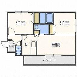 カーサパズ[3階]の間取り